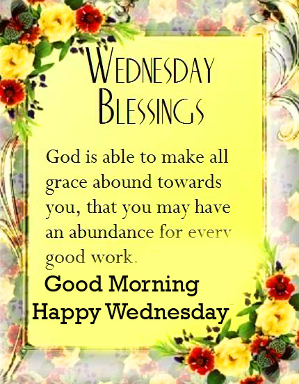 Latest and Best God Blessing Good Morning Happy Wednesday Photo