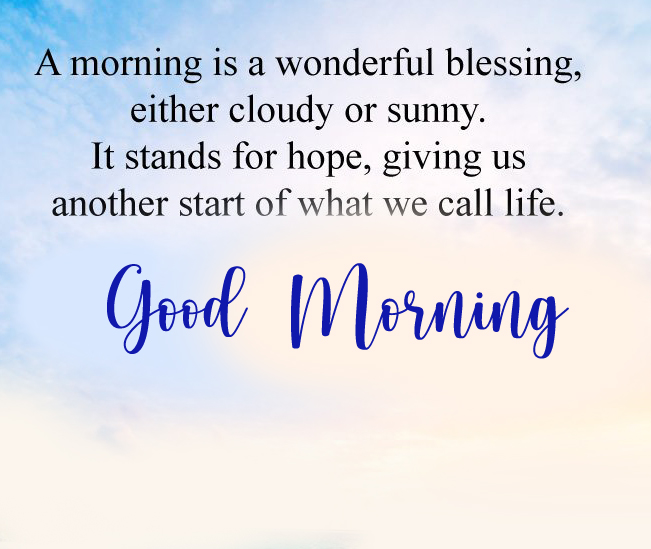 Life Blessing Good Morning Image