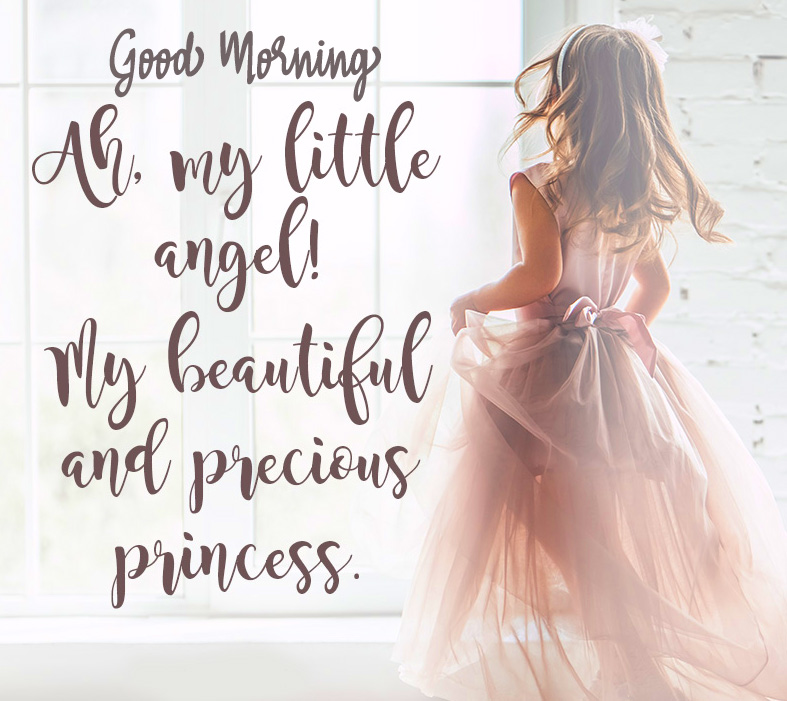 Little Angel Baby Quotes Good Morning Wish Image