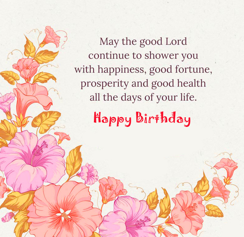 Lord Blessing Quotes with Happy Birthday Wish