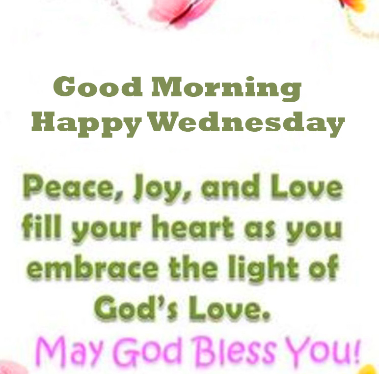 Love Blessing Message with Good Morning Happy Wednesday Wish