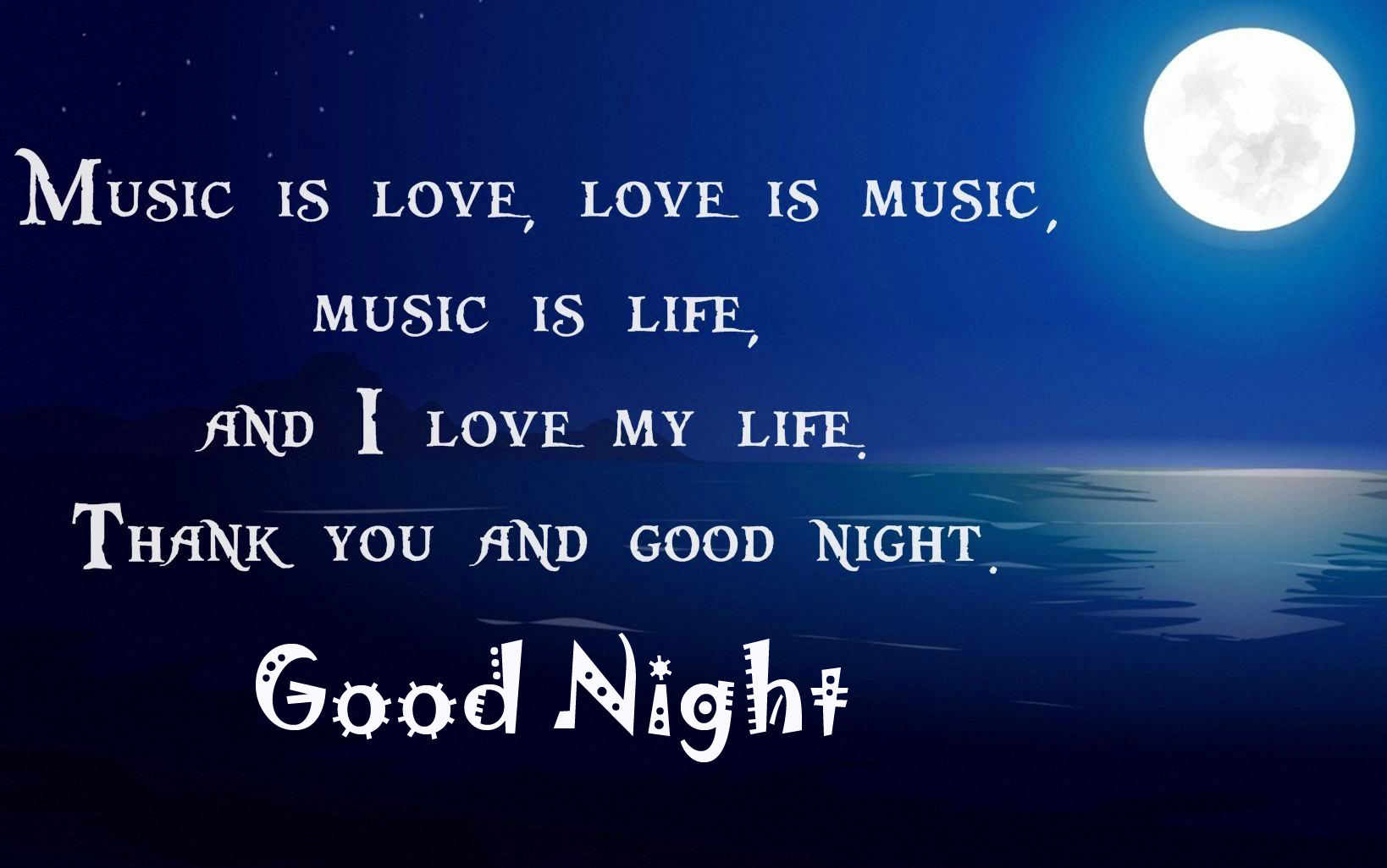 Love Blessing Quotes with Good Night Wish
