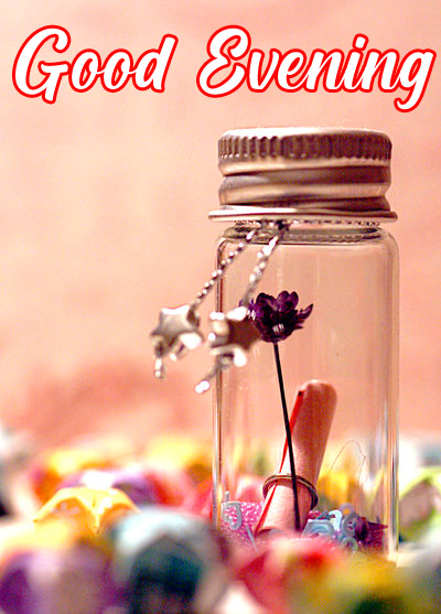Love Bottle with Good Evening Wish