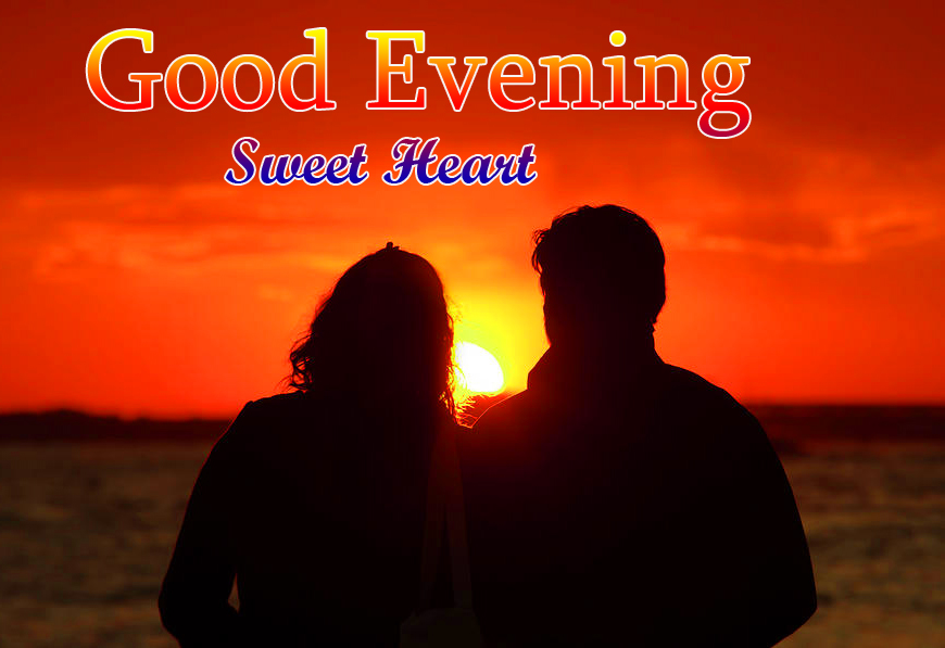 Love Couple with Romantic Good Evening Sweetheart Pic