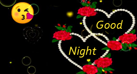 Love Hearts with Good Night Greeting