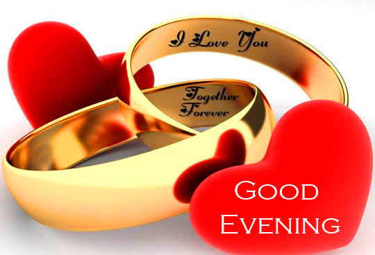 Love Rings with Good Evening Wish