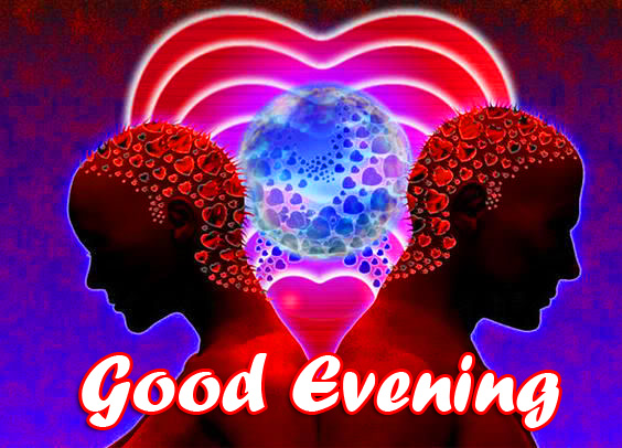 Love on the Heart Good Evening Image