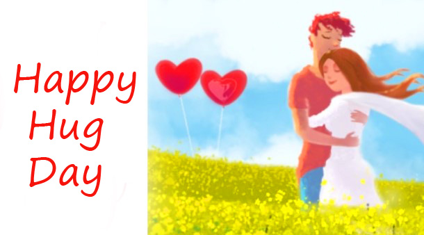 Lovely Animated Happy Hug Day Pic