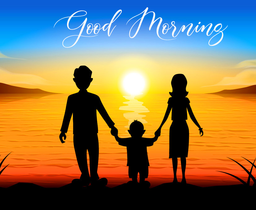 Lovely Family Good Morning Picture