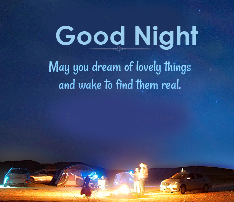 Lovely Good Night Message Picture