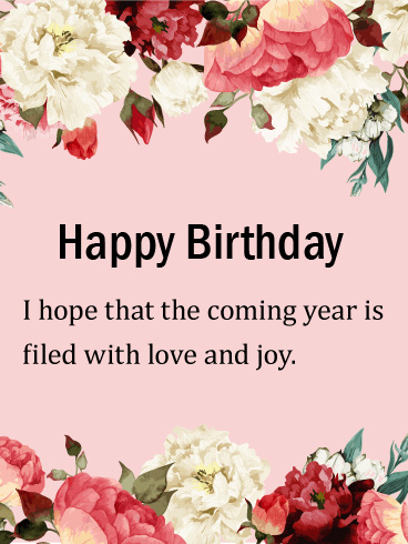 Lovely Happiness Filled Year Happy Birthday Image