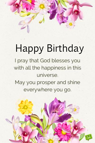Lovely Happy Birthday God Bless Message Picture