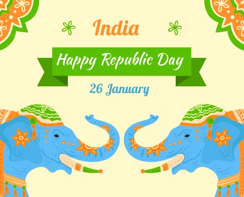 Lovely Happy Republic Day Greeting Pic