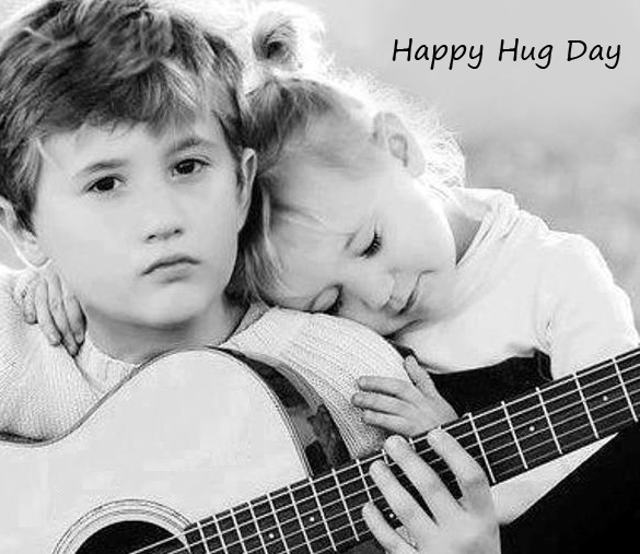 Lovely Kids Couple Happy Hug Day Pic