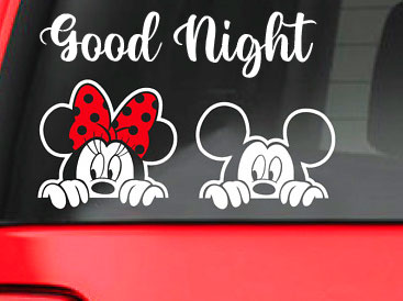 Lovely Minnie and Mickey Mouse Good Night Pic