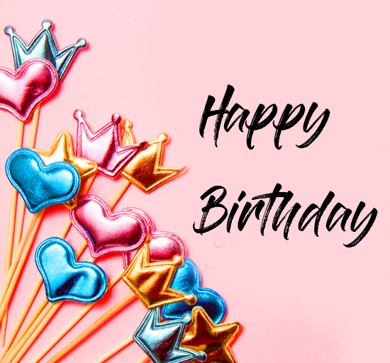 Lovely Party Stands with Happy Birthday Wish