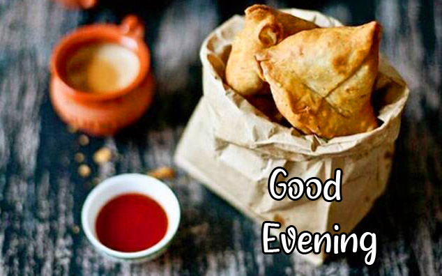 Lovely Tasty Samosa and Chai Good Evening Pic