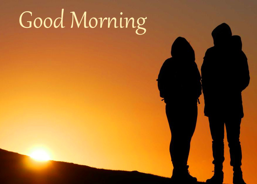 Lover Photo with Good Morning Message