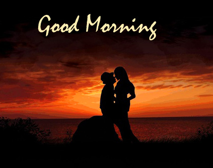 Lover Picture with Good Morning Wish