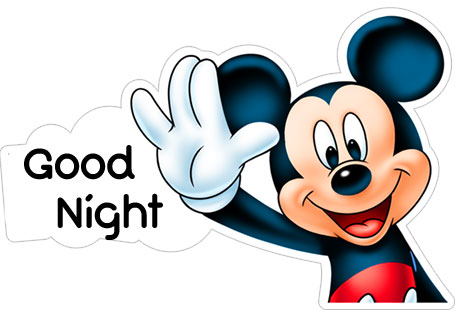 Mickey Mouse Good Night Image