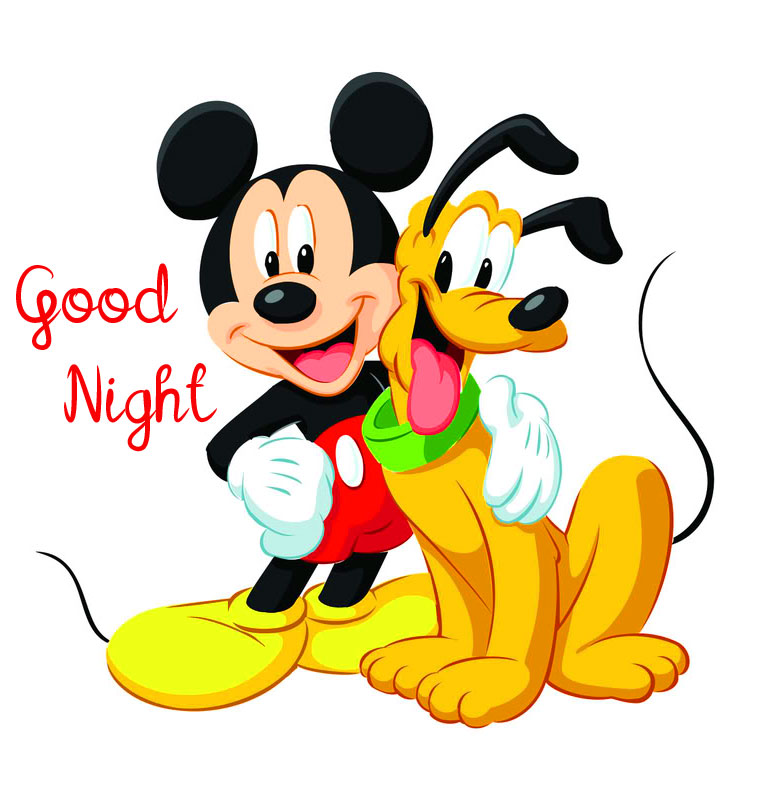 Mickey Mouse and Pluto Good Night Picture