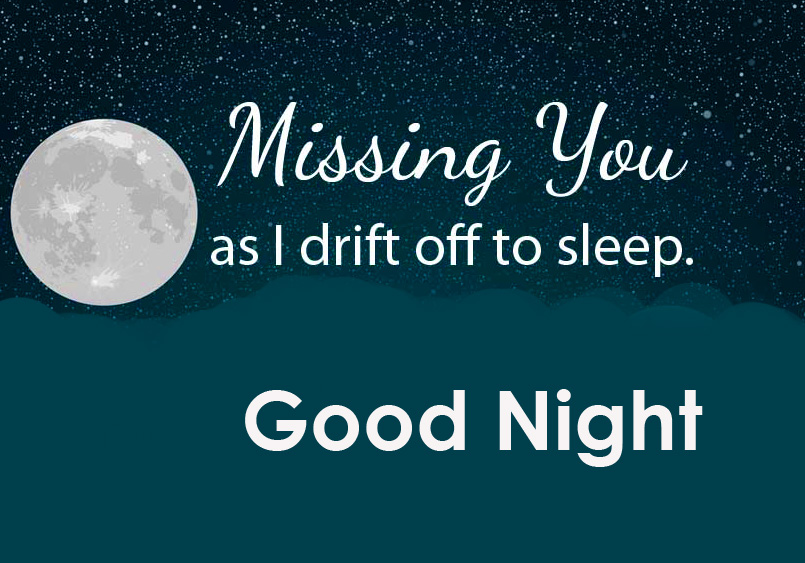 Missing You English Quotes Good Night Image