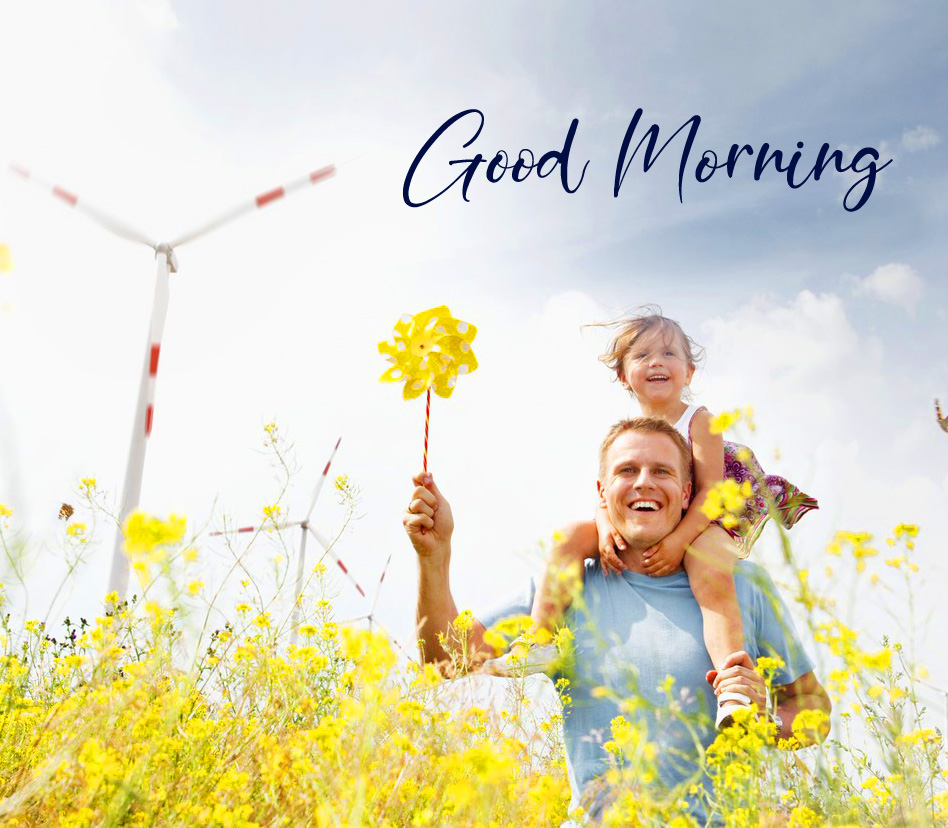Outdoor Family Good Morning Image