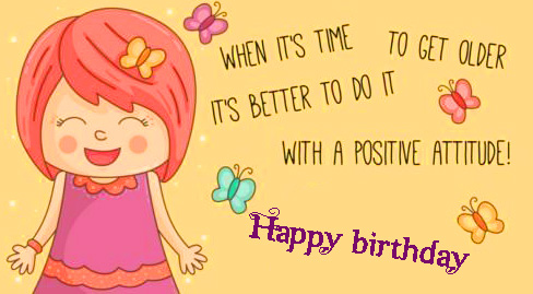 Positive Happy Birthday Message for Friend