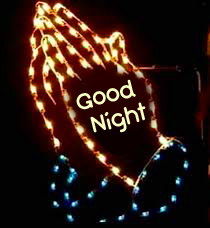 Praying Blessing Hands with Good Night Wish