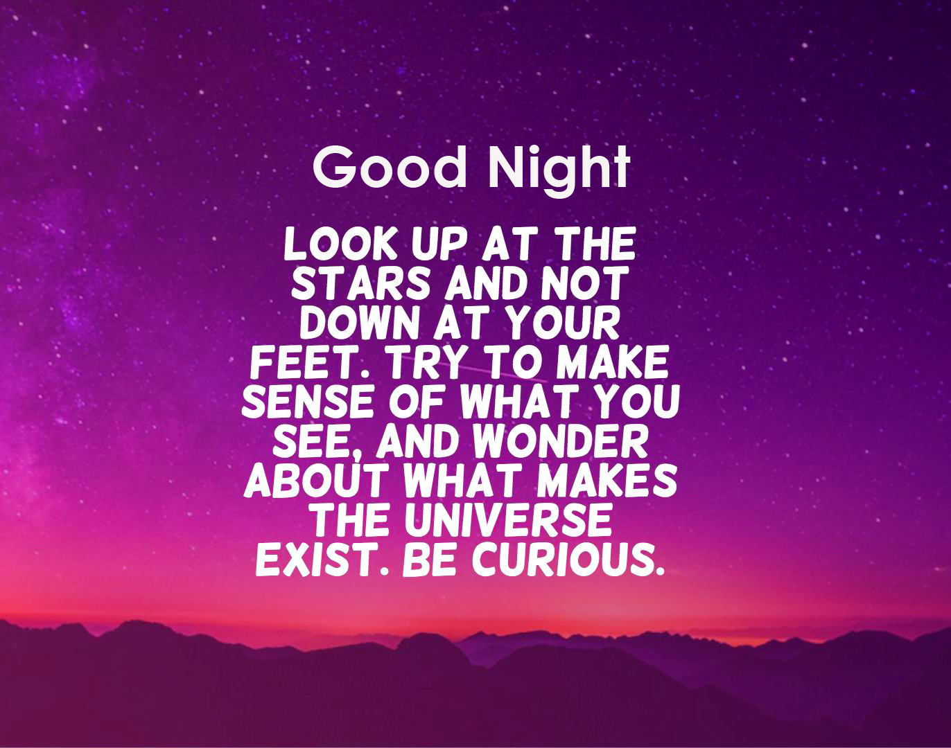 Quotes Good Night in English Pic HD