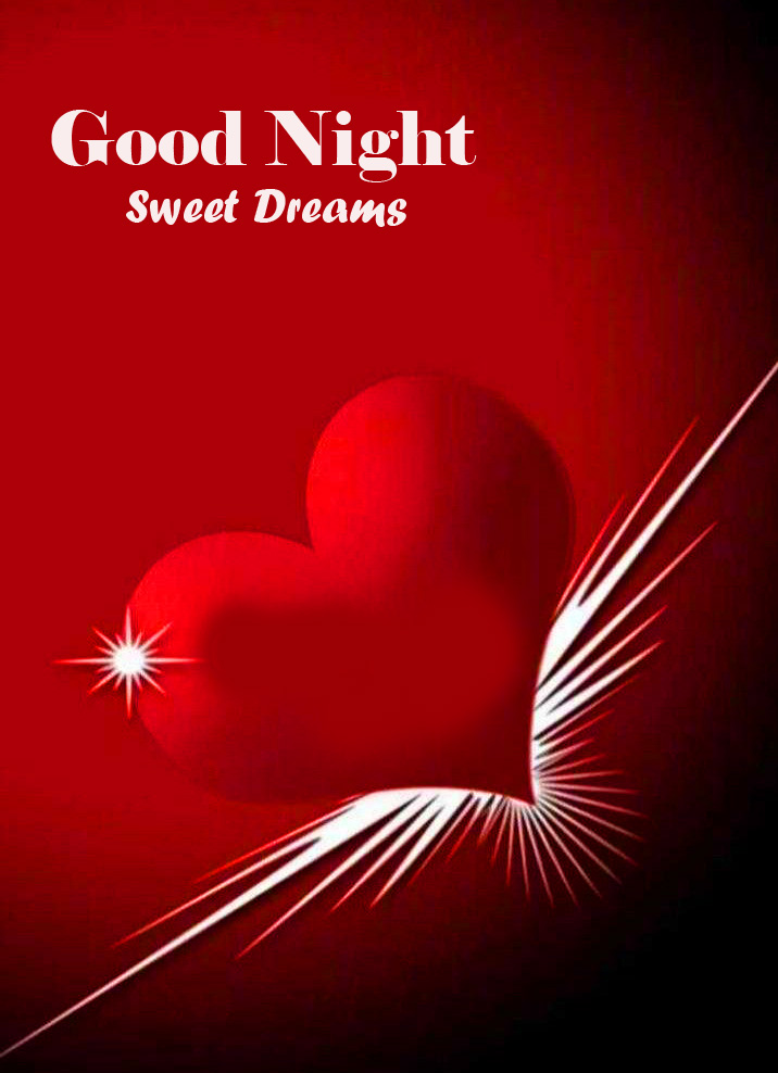 Red Heart Good Night Sweet Dreams Picture