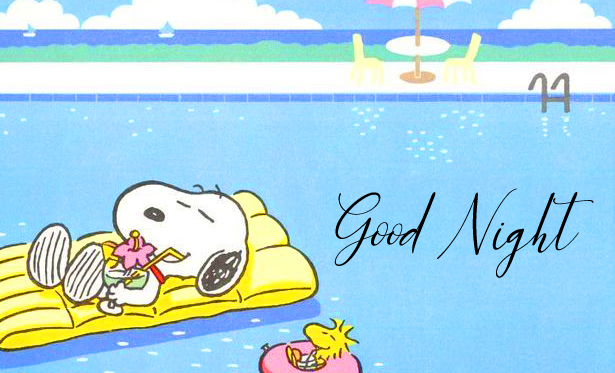 Relaxing Snoopy Good Night Image