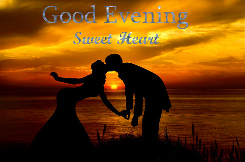 Romantic Couple Good Evening Sweetheart Picture