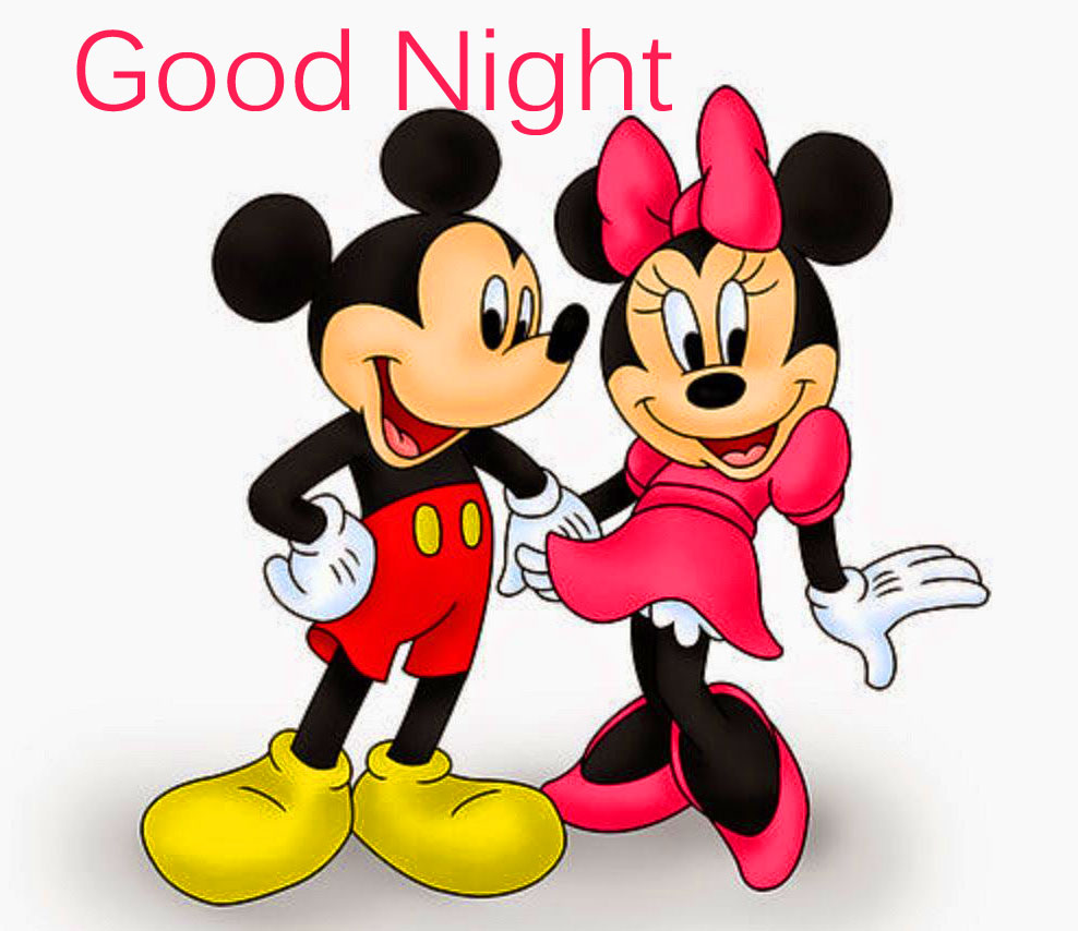 Romantic Mickey Mouse and Minnie Mouse Good Night Image