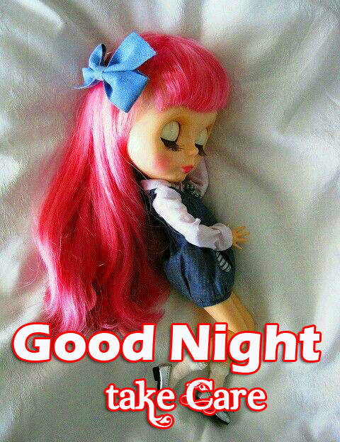 Sleeping Doll with Good Night Take Care Message