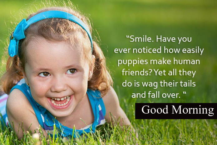 Smile Baby Quotes with Good Morning Wish