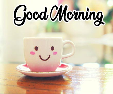 Smiley Coffee with Good Morning Wish