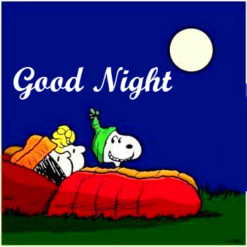 Snoopy Bed Time Good Night Image