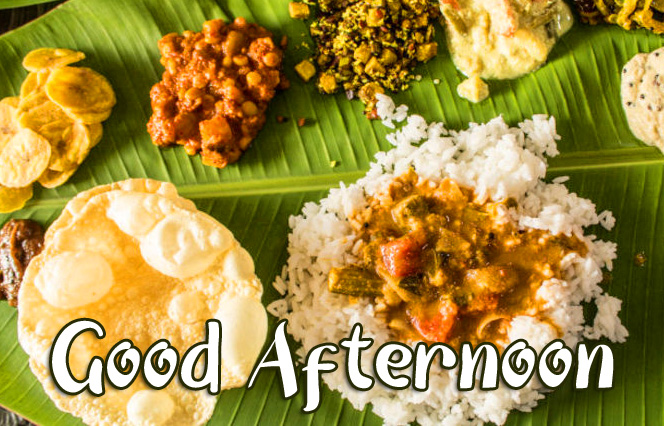 South Indian Lunch Good Afternoon Sunday Image