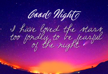 Stars Quotes in English with Good Night Wish