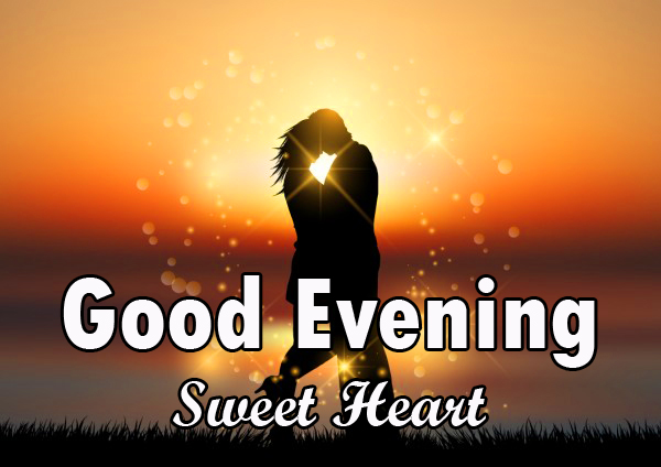 Sunset Love Couple Good Evening Wish Picture