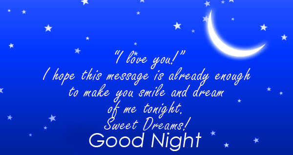 Sweet Good Night Message Picture