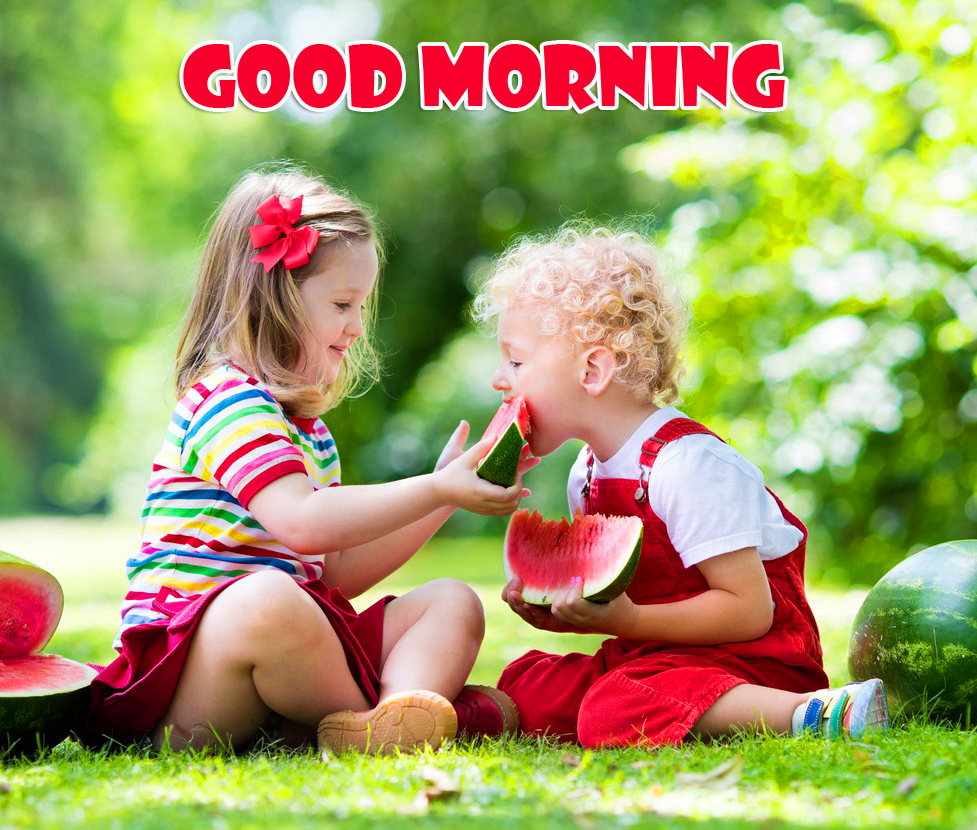Sweet Kids Good Morning Picture