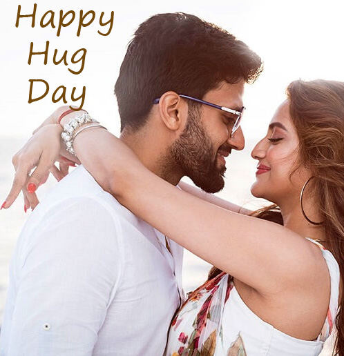 Sweet and Cute Couple Happy Hug Day Pic