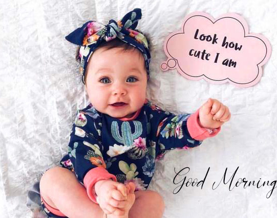 Sweet and Lovely Baby Quotes Good Morning Image