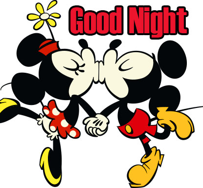 Sweet and Romantic Mickey and Minnie Mouse Good Night Image