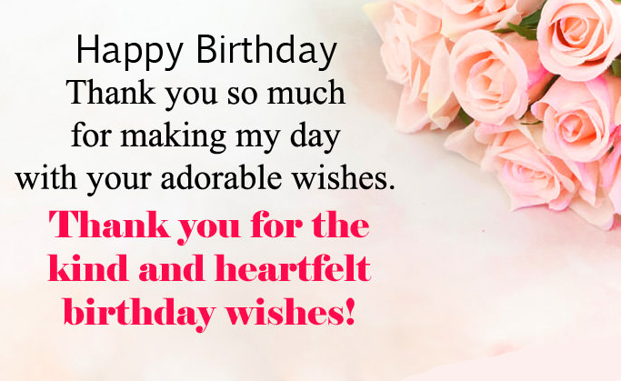 Thank You So Much with Happy Birthday Wish