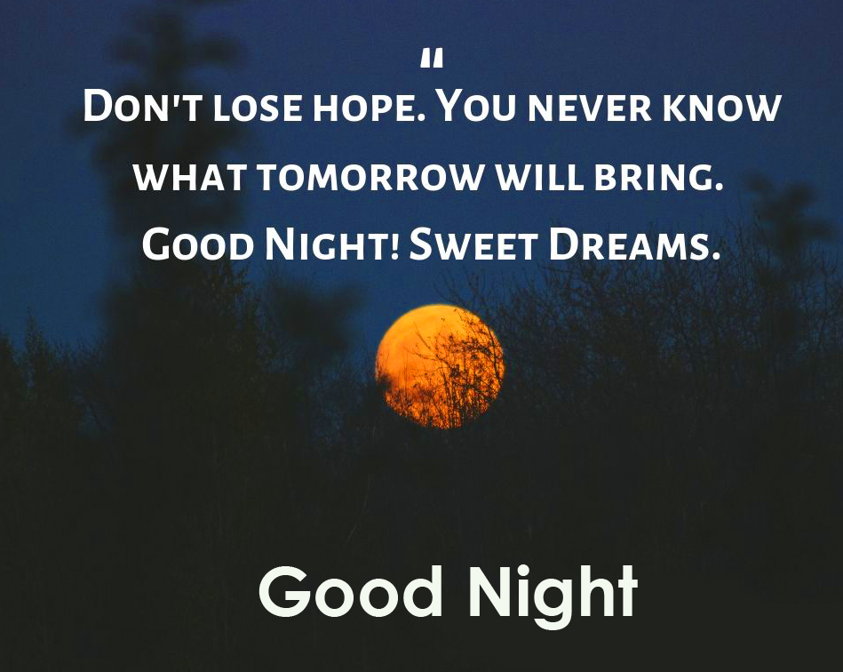 Tommorow Message with Good Night