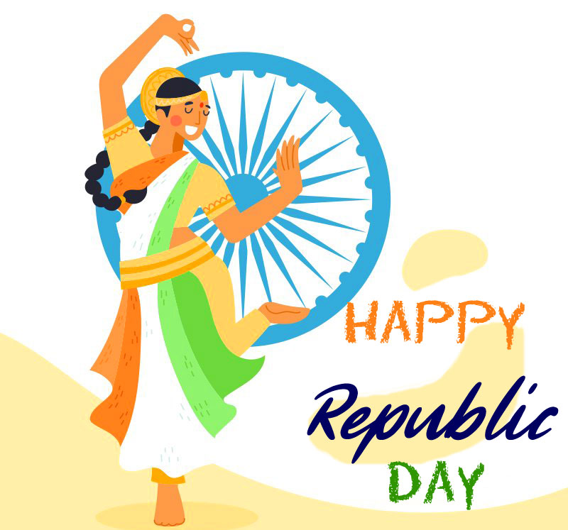 Traditional Happy Republic Day Greeting Pic