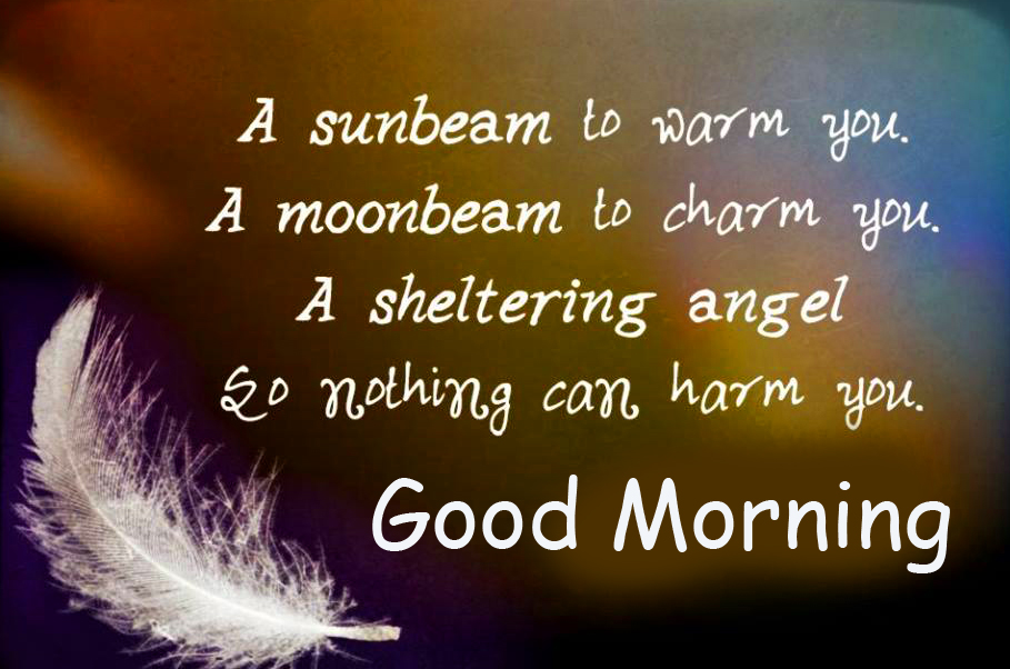 Angel Blessing Quote Good Morning Image